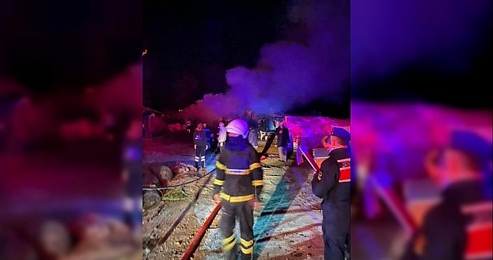 Sinop'ta ahır yangını