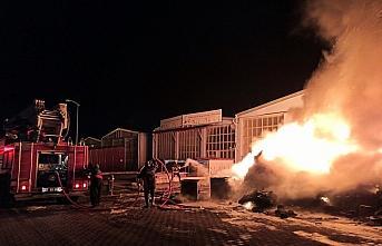 Sinop'ta sanayi sitesinde çıkan yangın söndürüldü