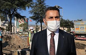 Tokat'ta sanayi sitesi bölgesinde yeni yağmur suyu hat çalışmaları yapılıyor