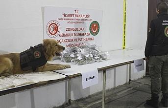 Zonguldak'ta 2 kilo 752 gram esrar ele geçirildi