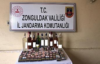 Zonguldak'ta iş yerinden hırsızlık yaptıkları...