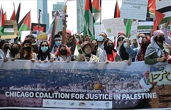 ABD'de Filistin'e destek gösterileri için sokağa çıkan Amerikalılar Biden yönetimine öfkeli
