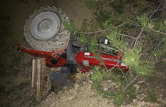 Bolu'da uçuruma devrilen traktörün sürücüsü...