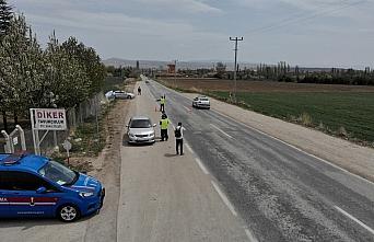Çorum'da jandarmadan drone destekli