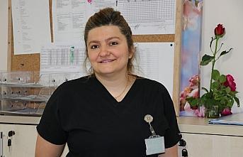 Karabük'te hemşireler salgın döneminde de ilk günkü heyecanla çalışmaya devam ediyor