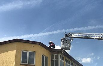 Kastamonu'da bir fırının çatısı yangında zarar gördü