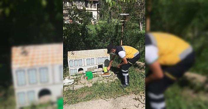 Kastamonu'da tam kapanma döneminde sokak hayvanları unutulmadı