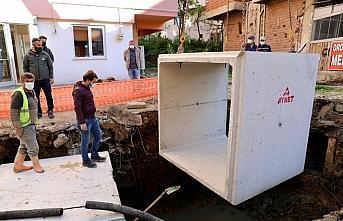 Ordu'da su baskınlarına yol açan derede çalışmalar...