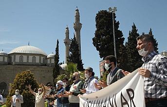 Samsun'da İsrail'in Filistin'e yönelik saldırıları protesto edildi