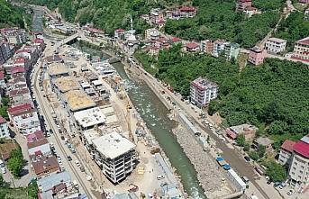 Sel felaketinin yaşandığı Dereli'de yeni yapıların inşasında sona yaklaşıldı