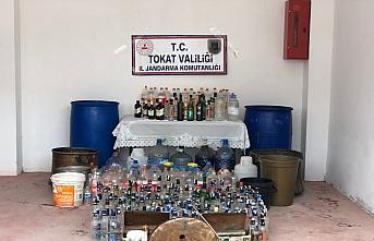 Tokat'ta 564 litre sahte içki ele geçirildi, bir kişi gözaltına alındı
