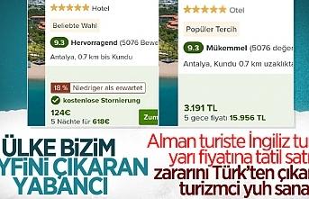 Türkiye'de yerli turist, yabancı turiste göre aynı otele, 2 kattan daha fazla para ödüyor