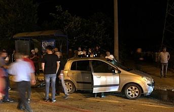 Düzce'de otomobille çarpışan motosikletin sürücüsü ağır yaralandı