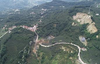 Ordu Büyükşehir Belediyesi, Korgan'da heyelanlı bölgedeki çalışmasını tamamladı