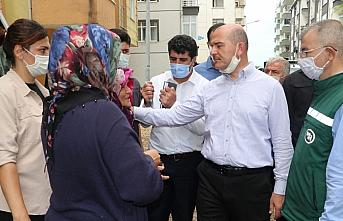 İçişleri Bakanı Soylu, Artvin'de selin etkili olduğu alanları inceledi