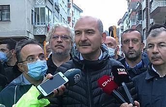 İçişleri Bakanı Süleyman Soylu, selden etkilenen Arhavi'de incelemelerde bulundu: