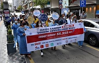 Samsun'da Hedef 1 Günde 55 bin 555 Aşı kampanyası başlatıldı