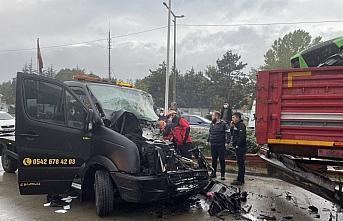 Bolu'da 3 aracın karıştığı kazada 1 kişi yaralandı
