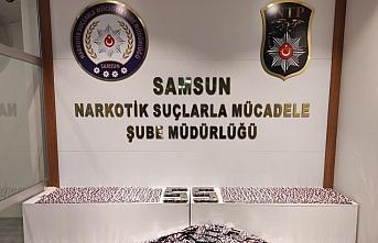 Samsun'da 14 bin 765 kapsül sentetik ecza hap ele geçirildi, 2 kişi tutuklandı