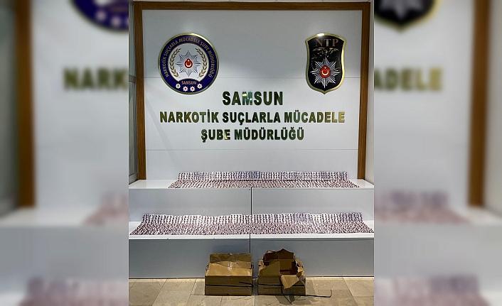 Samsun İlkadım'da 5 bin 740 kapsül sentetik ecza hap ele geçirildi, 2 gözaltı