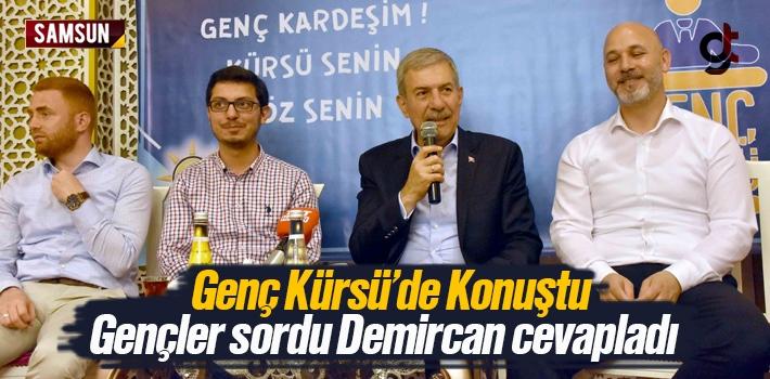 Ahmet Demircan Genç Kürsü'de Soruları Cevapladı