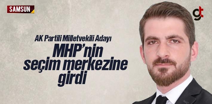 AK Parti Adayı Caner Göktepe MHP Seçim Merkezine...