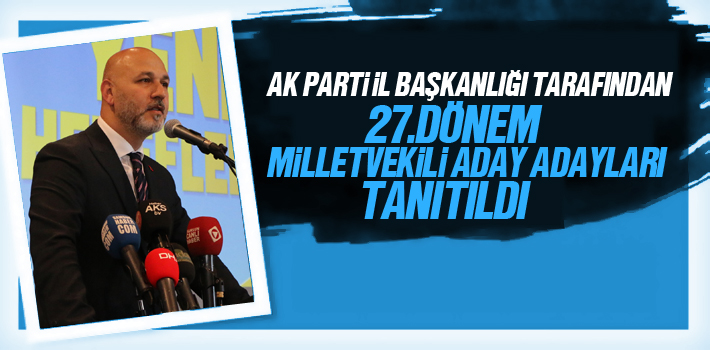 AK Parti İl Başkanlığı 27. Dönem Milletvekili...
