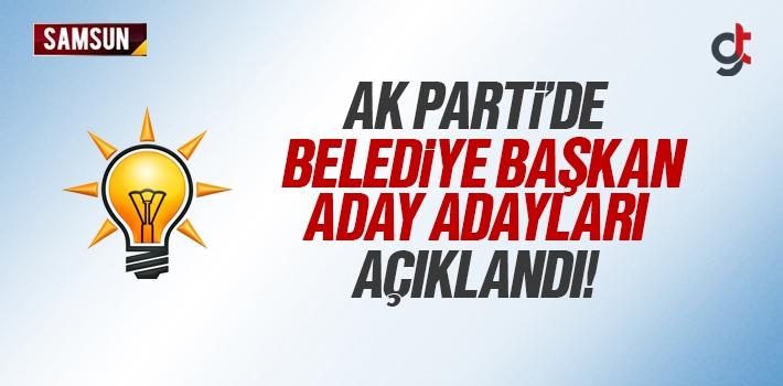 AK Parti Samsun İlçe Belediye Başkan Aday Adayları...
