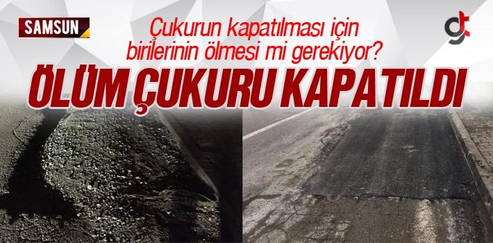 Atakum'da ki Ölüm Çukuru Ölümlü Kazanın Ardından...