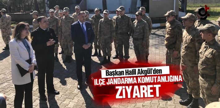 Başkan Halil Akgül'den İlçe Jandarma Komutanlığına...