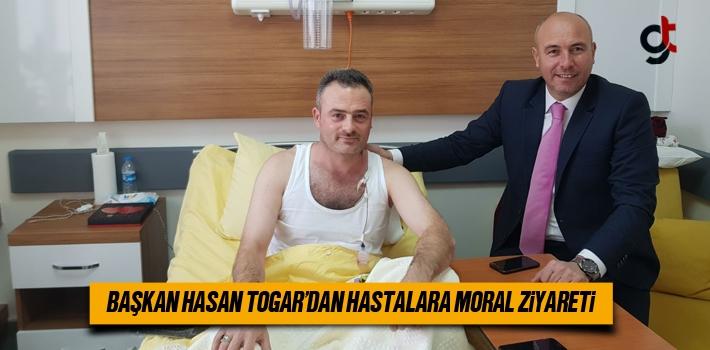 Başkan Hasan Togar'dan Hastalara Moral Ziyareti