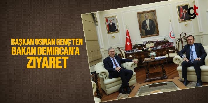 Başkan Osman Genç'ten Bakan Ahmet Demircan'a Ziyaret...