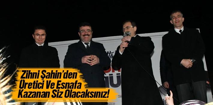 Başkan Şahin'den Üretici Ve Esnafa Kazanan Siz...