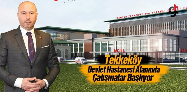 Başkan Togar, Tekkeköy Devlet Hastanesi Alanında...