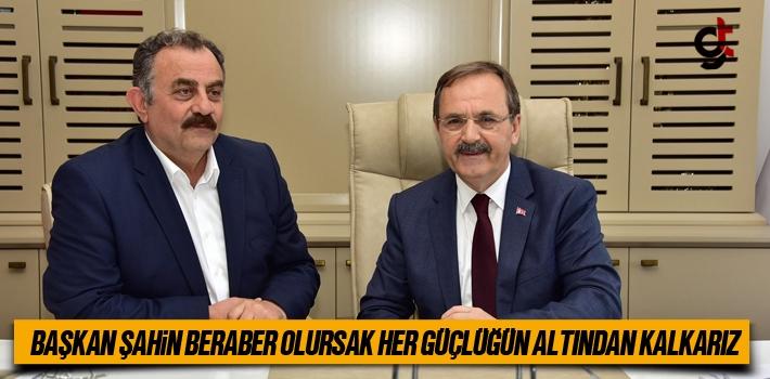 Başkan Zihni Şahin,Beraber Olursak Her Güçlüğün...