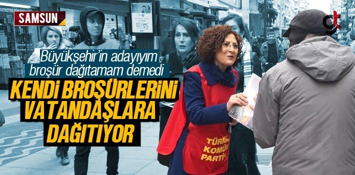 Belma Nur Kartal, Seçim Broşürlerini Kendi Dağıtıyor