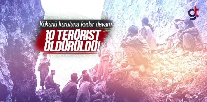 Bitliste 10 PKKlı Terörist Öldürüldü
