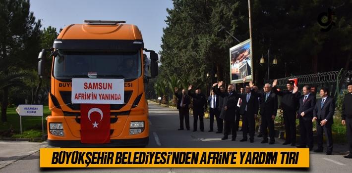 Büyükşehir Belediyesi'nden Afrin'e Yardım Tırı...