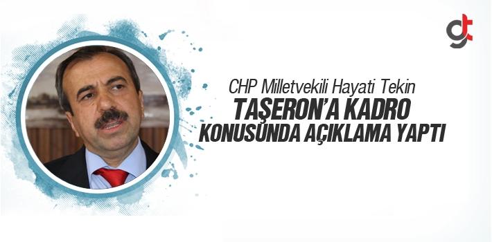 CHP Milletvekili Hayati Tekin, Taşeron'a Kadro Konusunda...