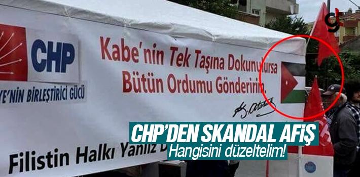 CHP'den Skandal Filistin Afişi