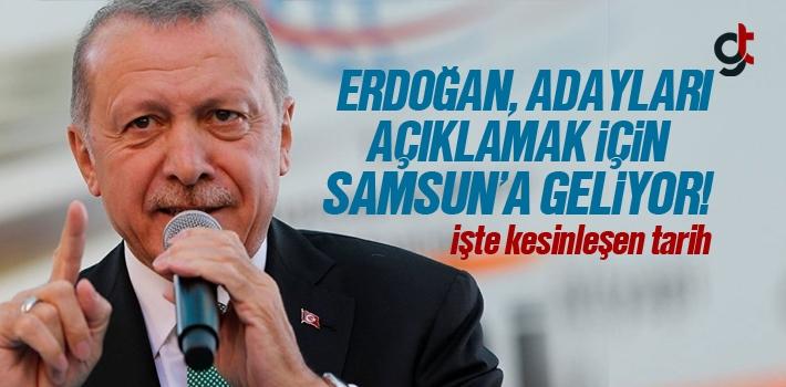 Cumhurbaşkanı Erdoğan 19 Ocak'ta Samsun'a Gelecek,...