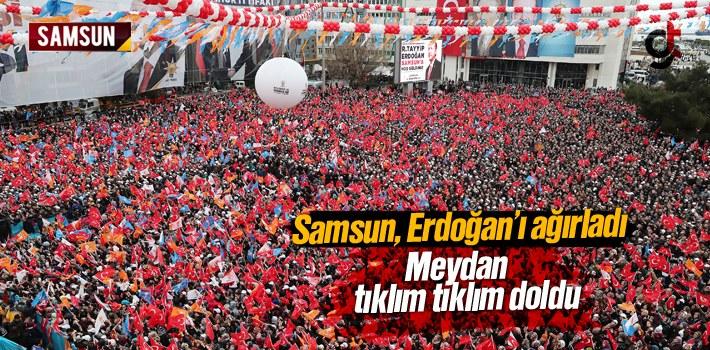 Cumhurbaşkanı Erdoğan'ın Samsun Mitingine Binlerce...