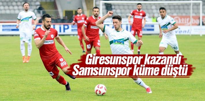 Giresunspor Kazandı, Samsunspor Küme Düştü
