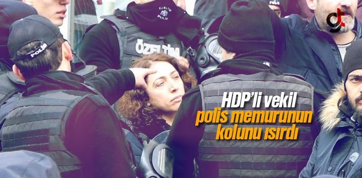 HDP Milletvekili Saliha Aydenizi Polis'in Kolunu Isırdı