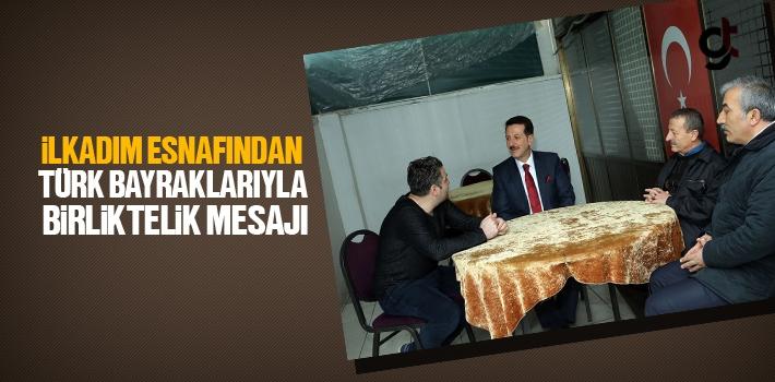 İlkadım Esnafından Türk Bayraklarıyla Birliktelik...