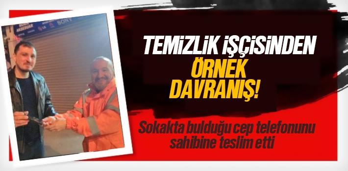 İlkadım Temizlik İşçisi Ümit Özbakan'dan İnsanlık...