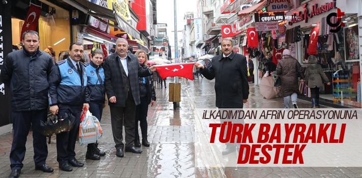 İlkadım'dan Afrin Operasyonuna Türk Bayraklı Destek