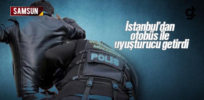 İstanbul'dan Samsun'a Otobüs İle Uyuşturucu Getirdi