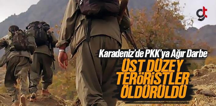 Karadeniz'da PKK'lı Teröristlere Ağır Darbe Vuruldu