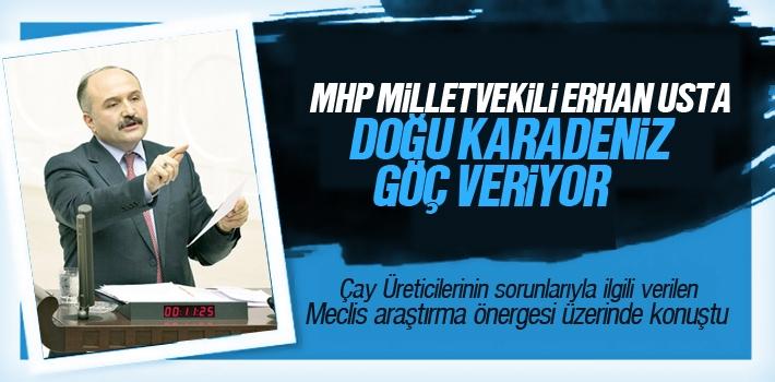 MHP Milletvekili Erhan Usta, Doğu Karadeniz Net Göç...